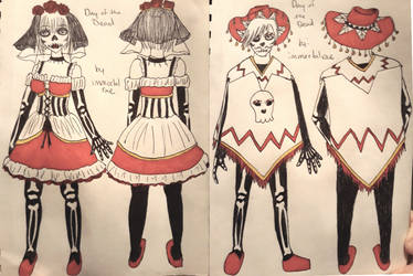 Day of the Dead Outfits by immortalrae