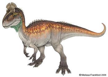 Cryolophosaurus by mmfrankford