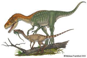 Herrerasaurus and Eoraptor by mmfrankford