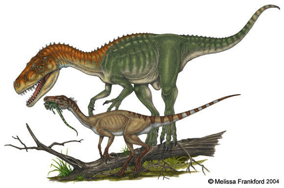 Herrerasaurus and Eoraptor by mmfrankford