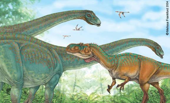 Allosaurus and Apatosaurus