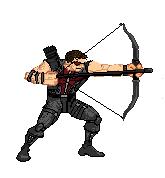 AVENGERS SPRITE PROJECT:  Hawkeye sprite by Quigonkenobi