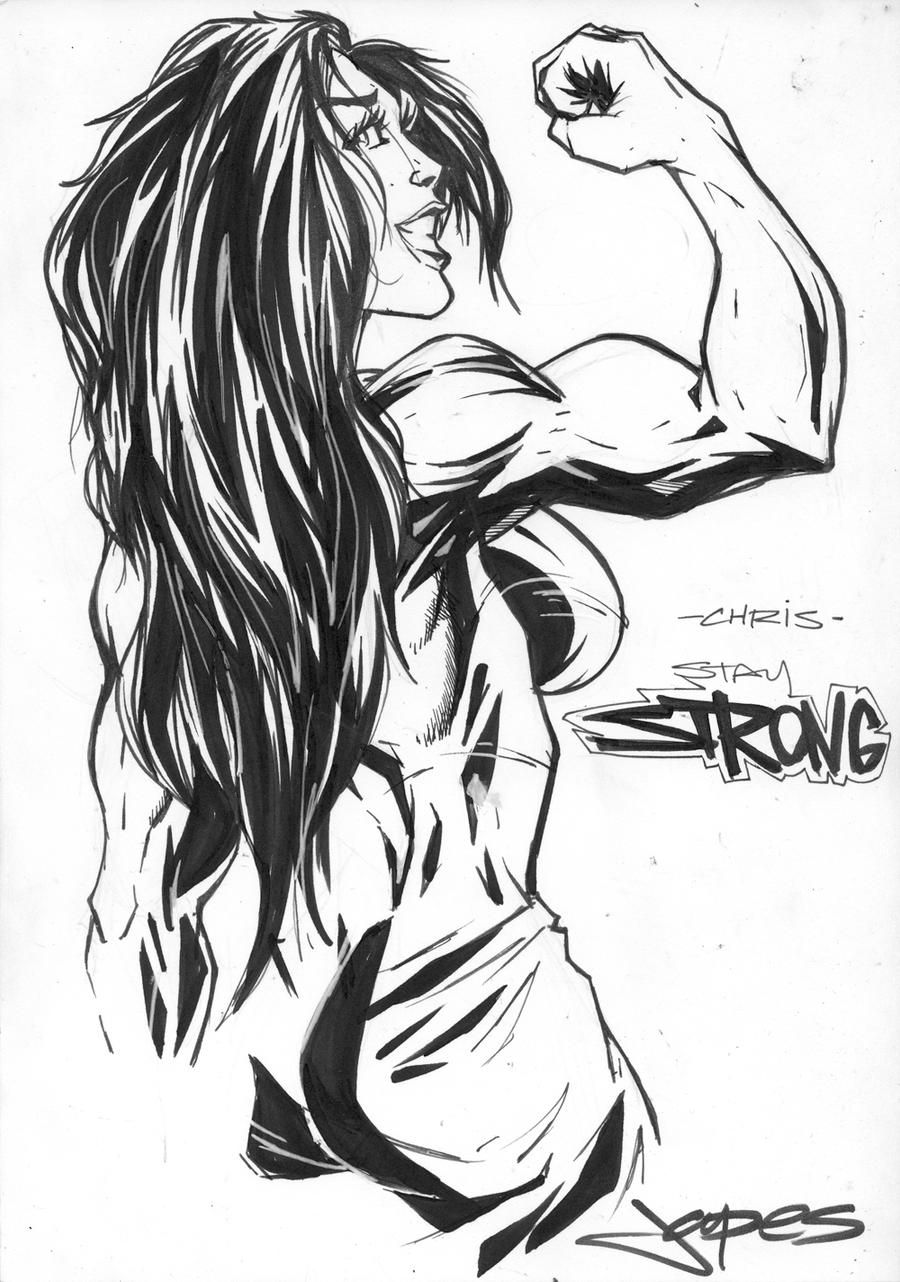 She Hulk Drawing By Jpdeshong