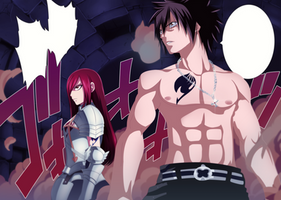 Erza and Gray by eltk