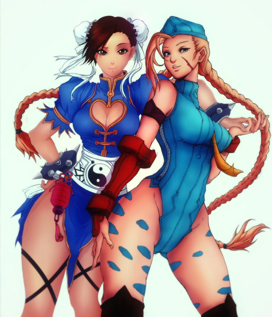 [Collab] Chun-Li and Cammy by eltk