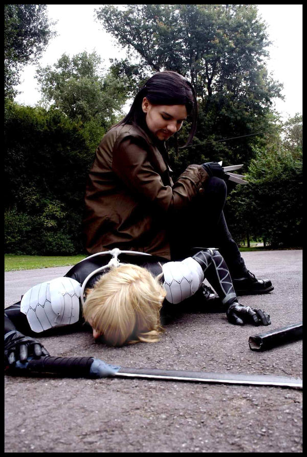 MGS 2 Cosplay Raiden vs Vamp by Moin2D