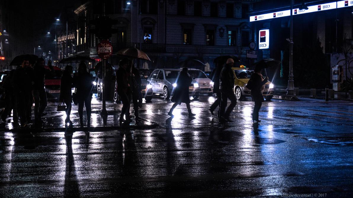 Strazi albastre/ Blue Streets by Lentziu