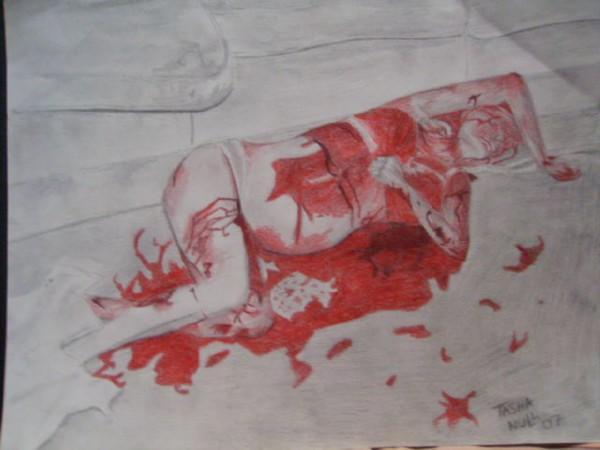 Sharon Tate in death by FreakyArtist on DeviantArt