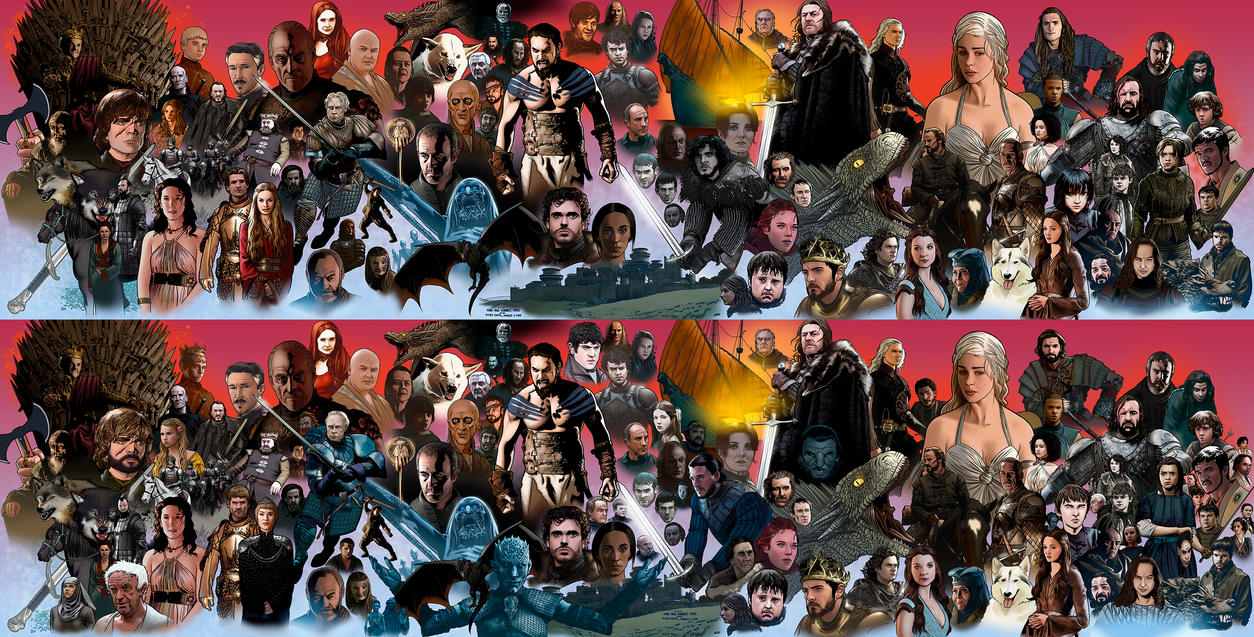 Game of thrones Before and after by miguelangelh