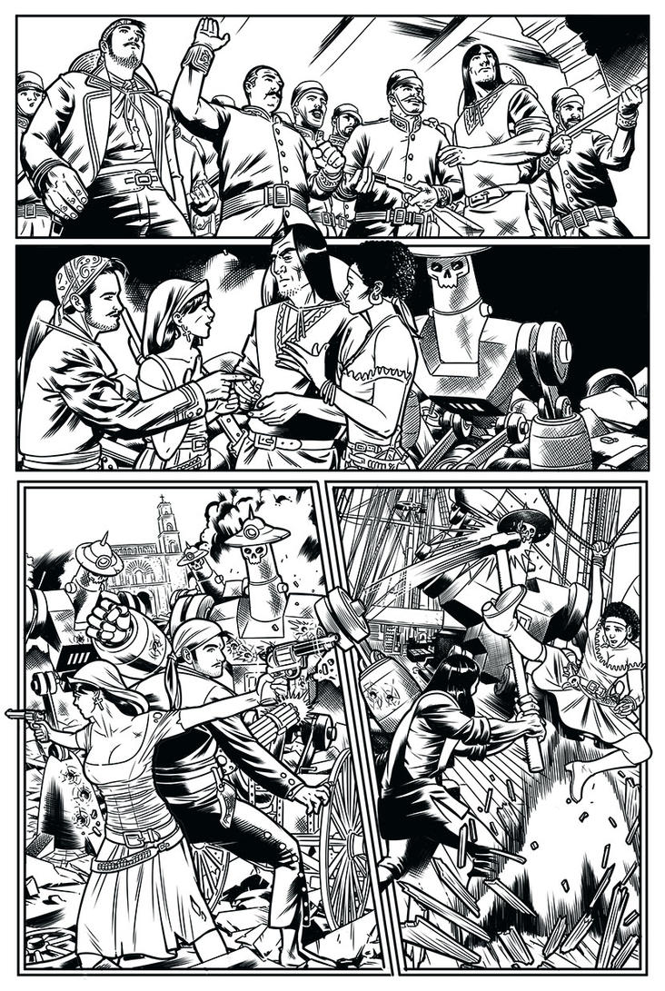Page 3 inks Monstruos de vapor by miguelangelh