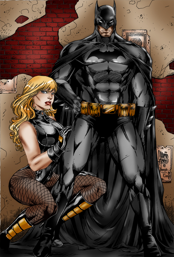 Batman-Black Canary by TVC-Designs