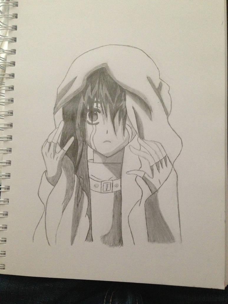 Depressed anime girl by purpl foxx