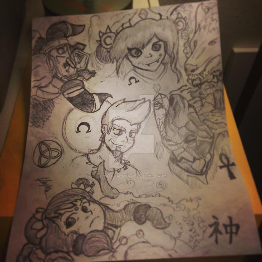 Smite FanArt Sketching by ProtonShock
