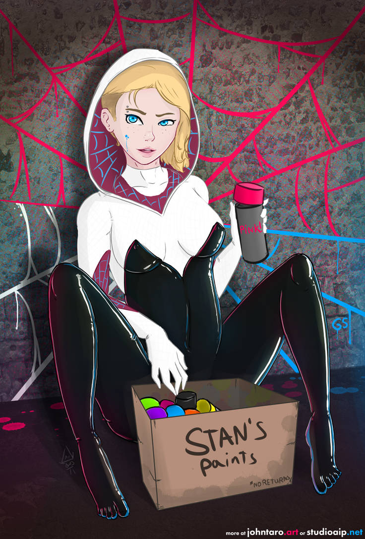 Spider Gwen Tagging by johntaro