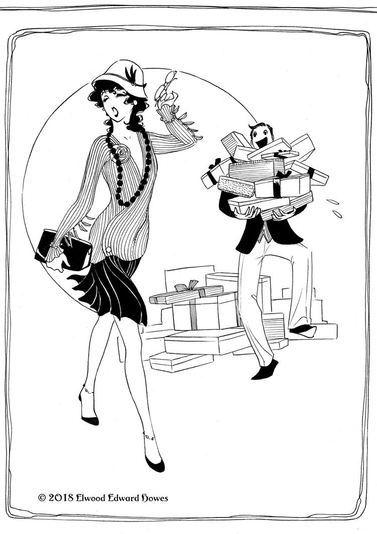 cantieuhy Flapper Girl 01 by Elwood-Edward-Howes