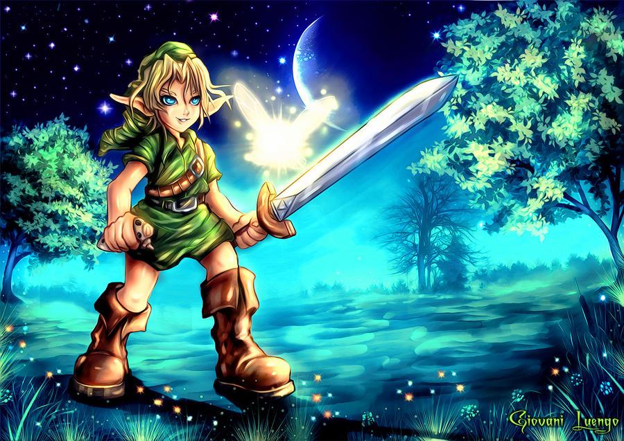 Zelda-Link Ocarina of the Time by Uryenn