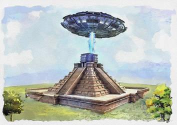 Quetzalcoatl (Kukulcan) - Ancient Astronauts by FrancisLugfran