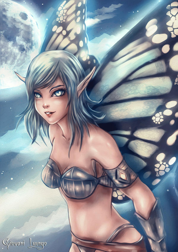 Aeval - Lunar Fairy by Uryenn