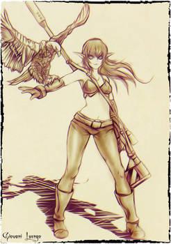 Desert Huntress - Sketch
