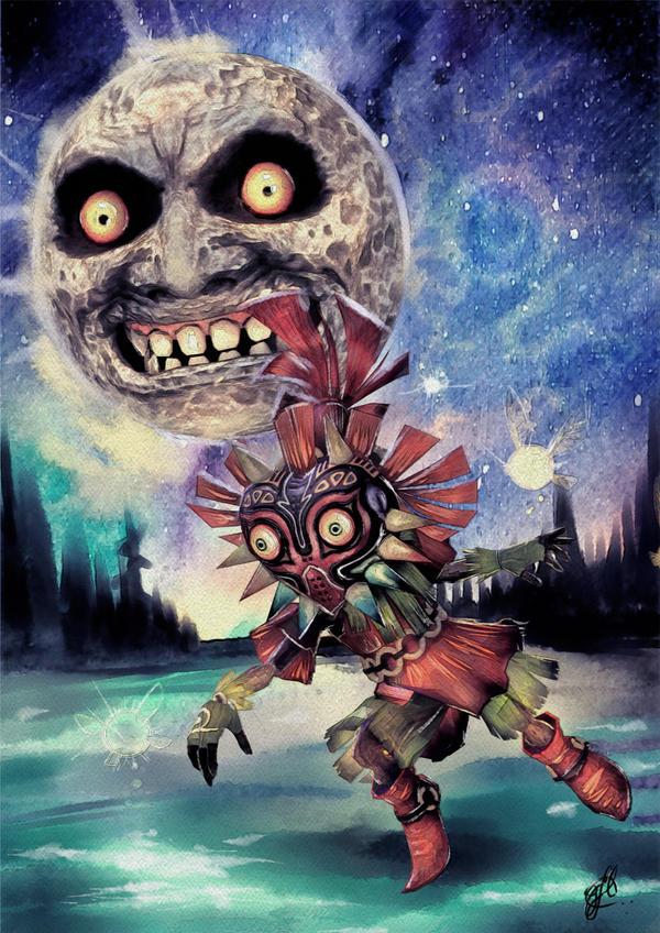 Skull Kid - Majora's Mask (Zelda) by Gioluengo
