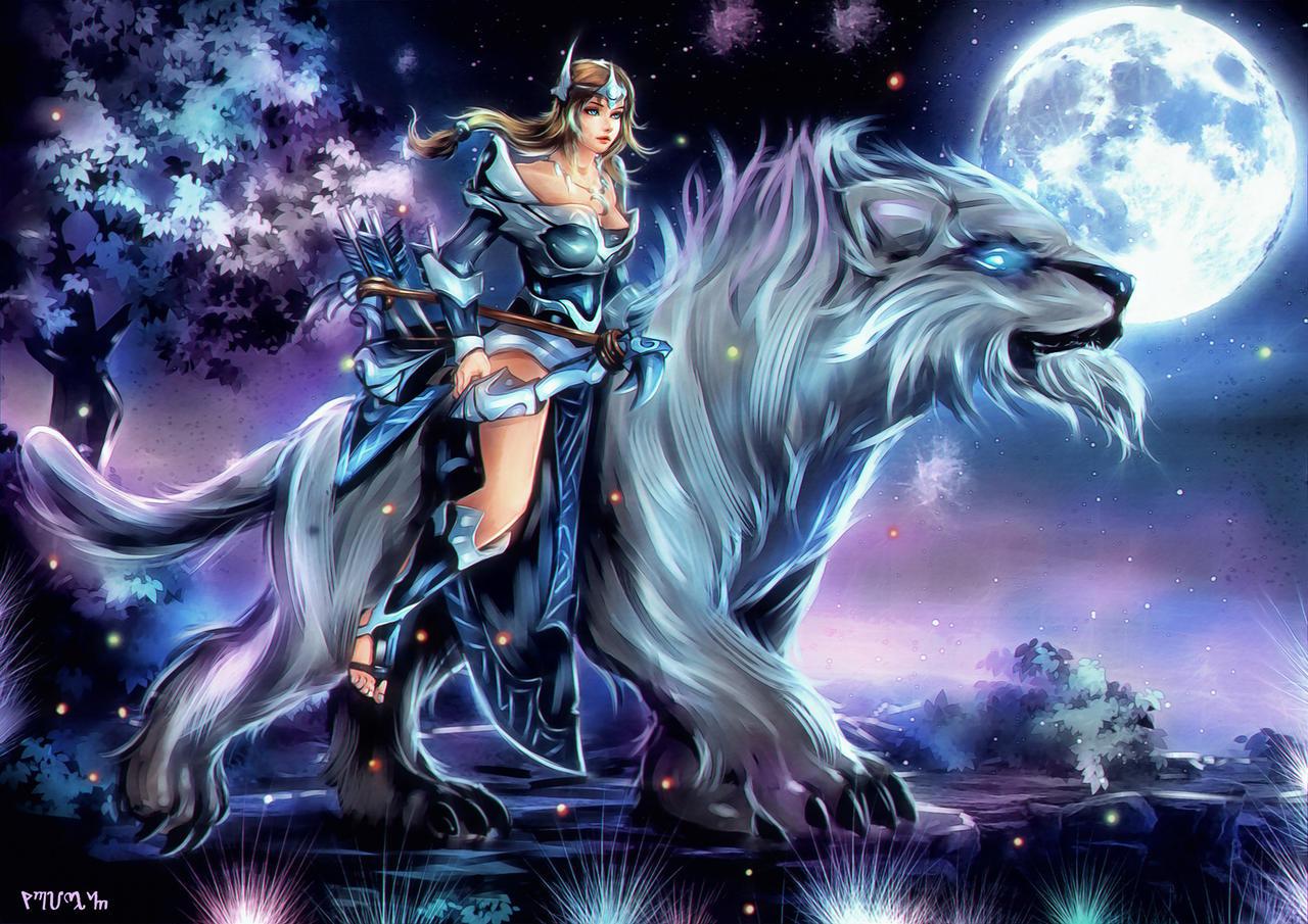 Mirana -The Princess of the Moon - DOTA 2 by FrancisLugfran