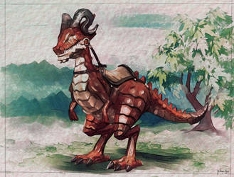 Velociraptor Dragon by FrancisLugfran