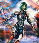Gamora - Guardians of the Galaxy by FrancisLugfran