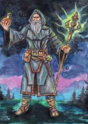 The Alchemist - The Hermit Tarot by FrancisLugfran