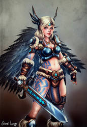 FREYA-  The Queen of the Valkyries by FrancisLugfran