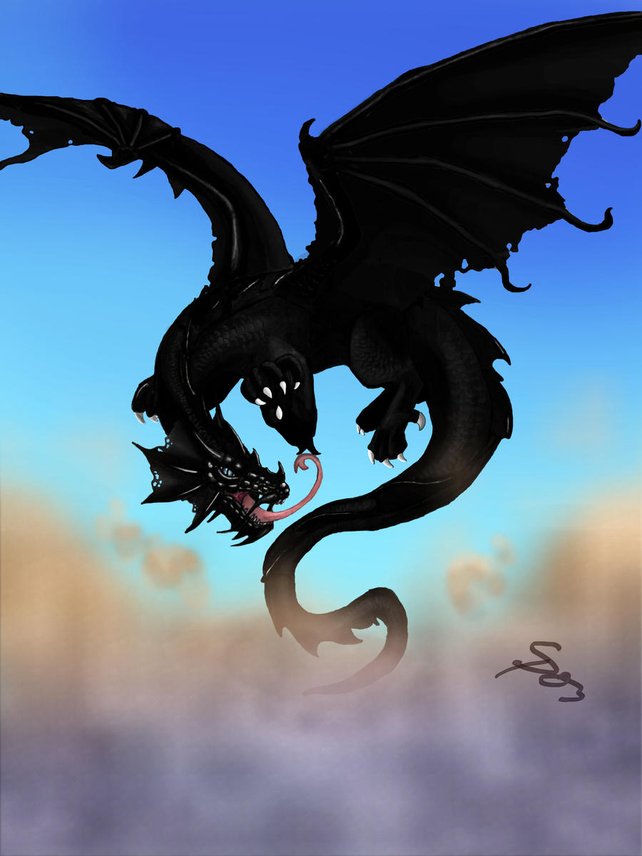 Dark Shadow Dragons Black dragon by shadow-