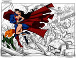 Justice League By Sandoval Art