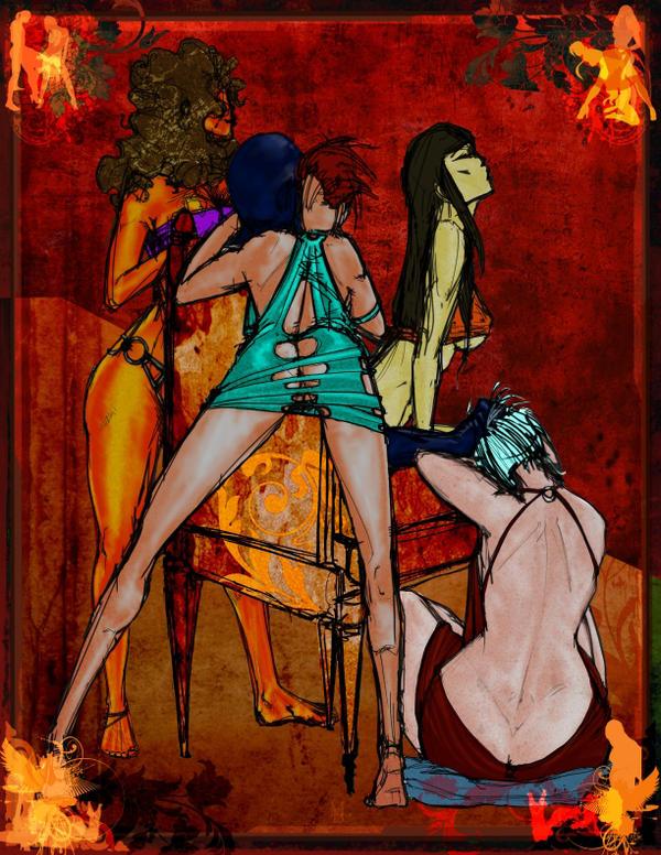 Cult of the Serpentari: 4 Attendants by MicahBlack