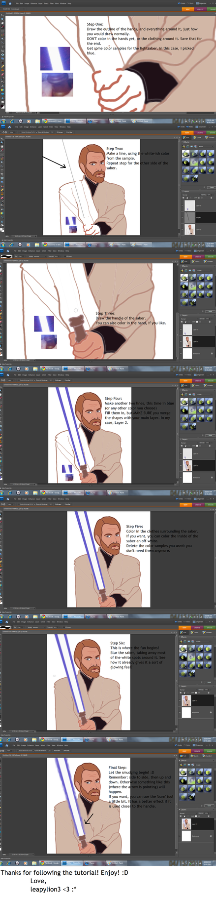 Lightsaber Tutorial: Photoshop by leapylion3