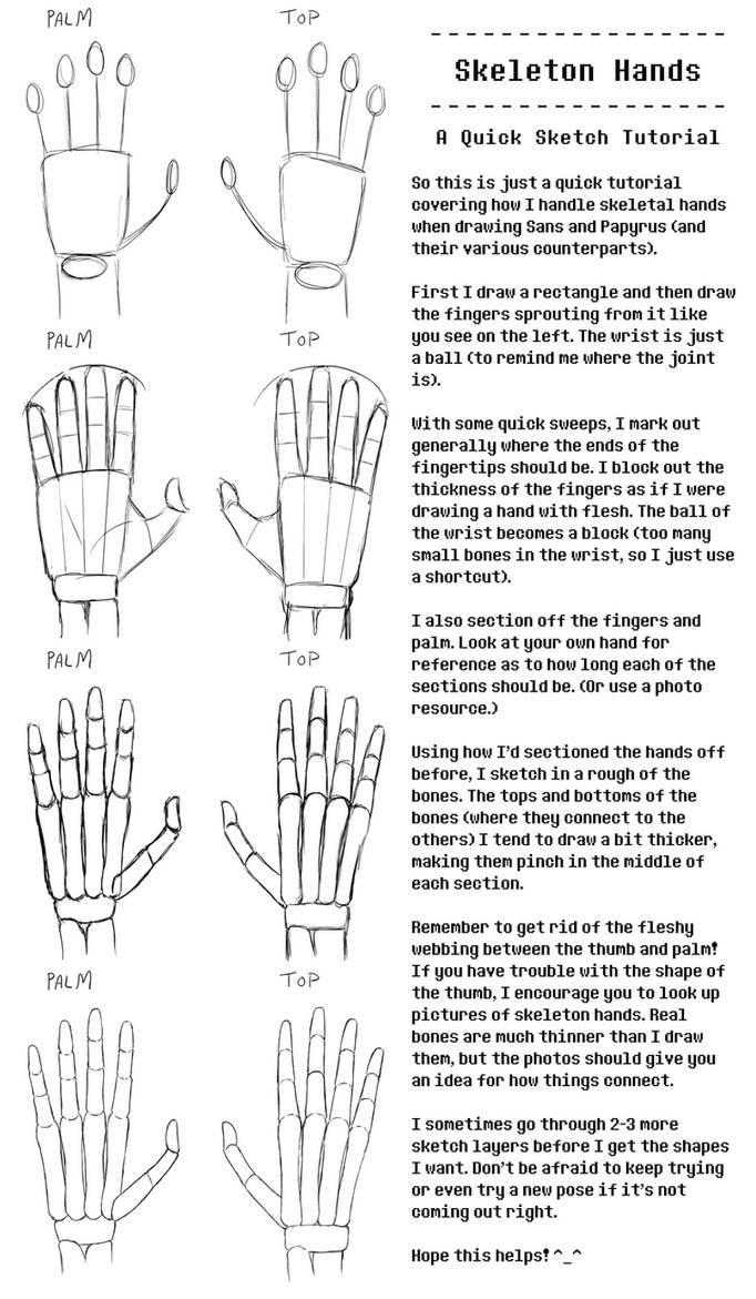 Skeleton Hand Tutorial By Nanobanana On Deviantart
