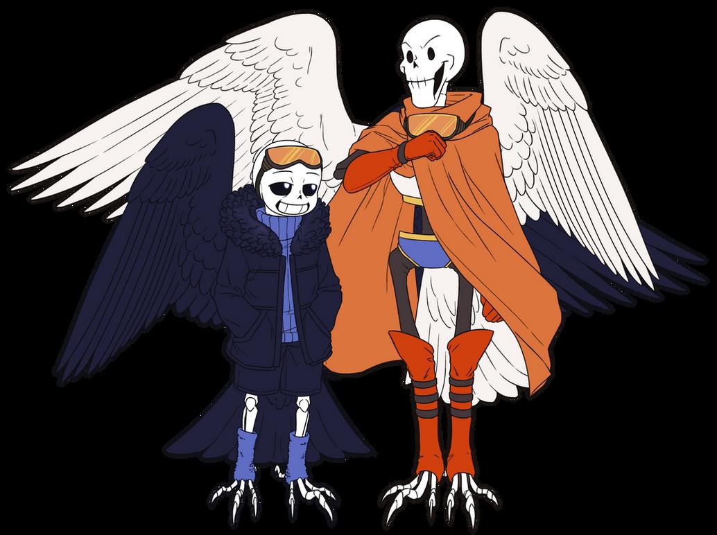 Birdtale - Sans x Frisk by AniiTaRuiz on DeviantArt