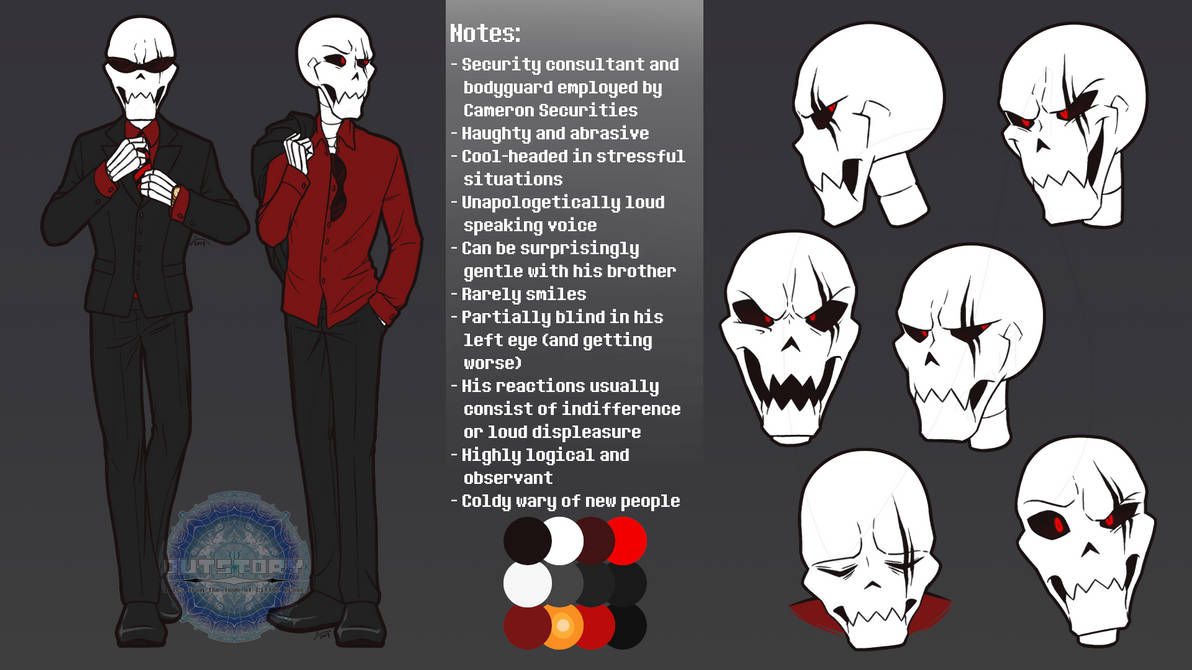 Outstory Character - Fell Papyrus Reference