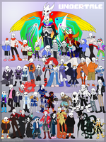 A Drop of Inspiration - A Poster of Undertale AUs