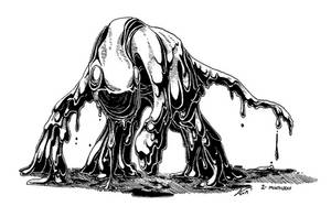 Inktober Day 2 - Mindless Ooze