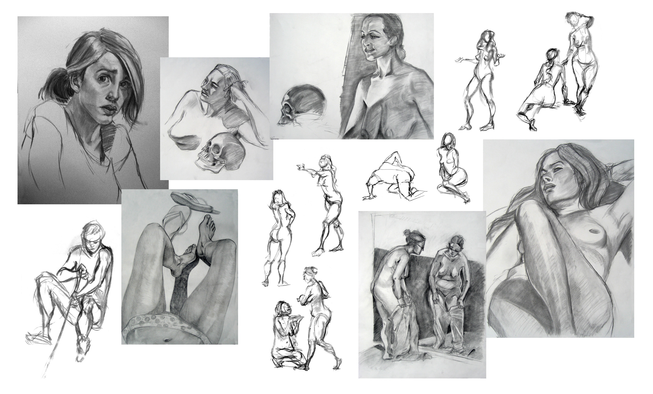 Life Drawing Collage 4 by travelingpantscg