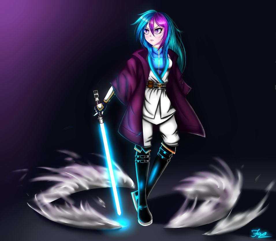 Lightsaber Warrior Ray by HoodieFoxy