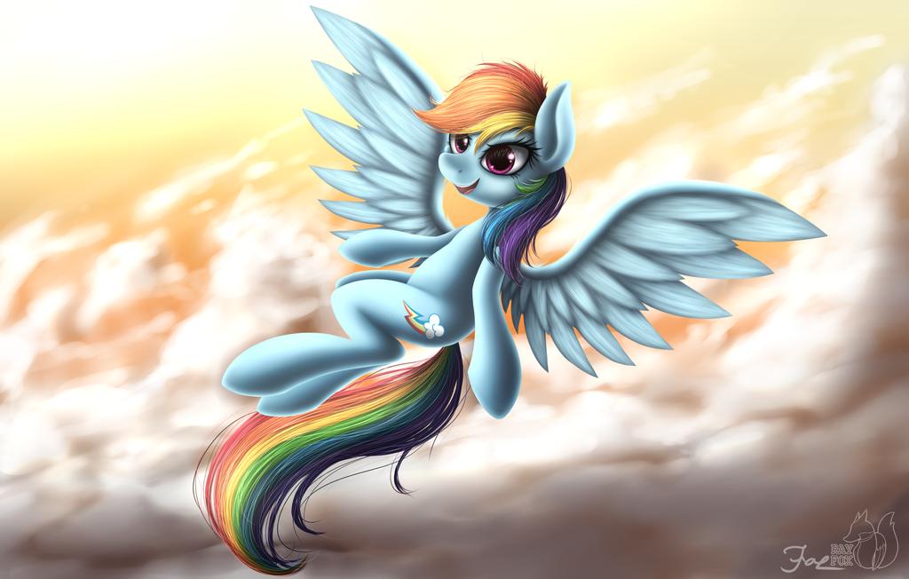Rainbow Fly by HoodieFoxy