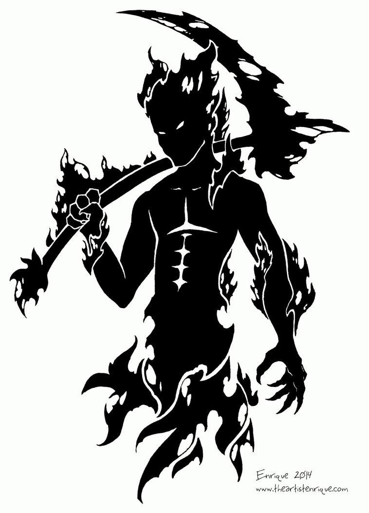 tribal demon 2 by theartistenrique on deviantart
