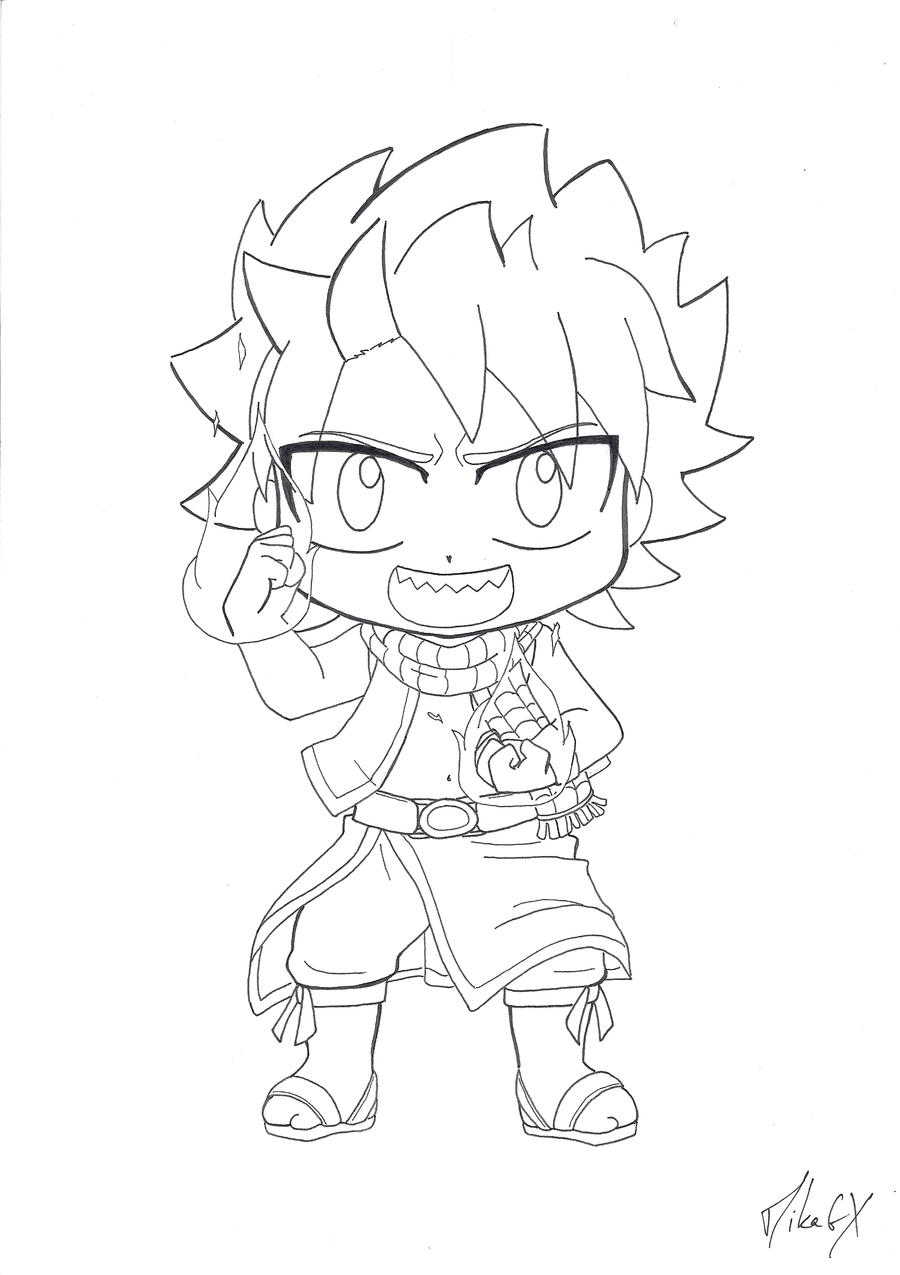 chibi fairy tail coloring pages - photo#19