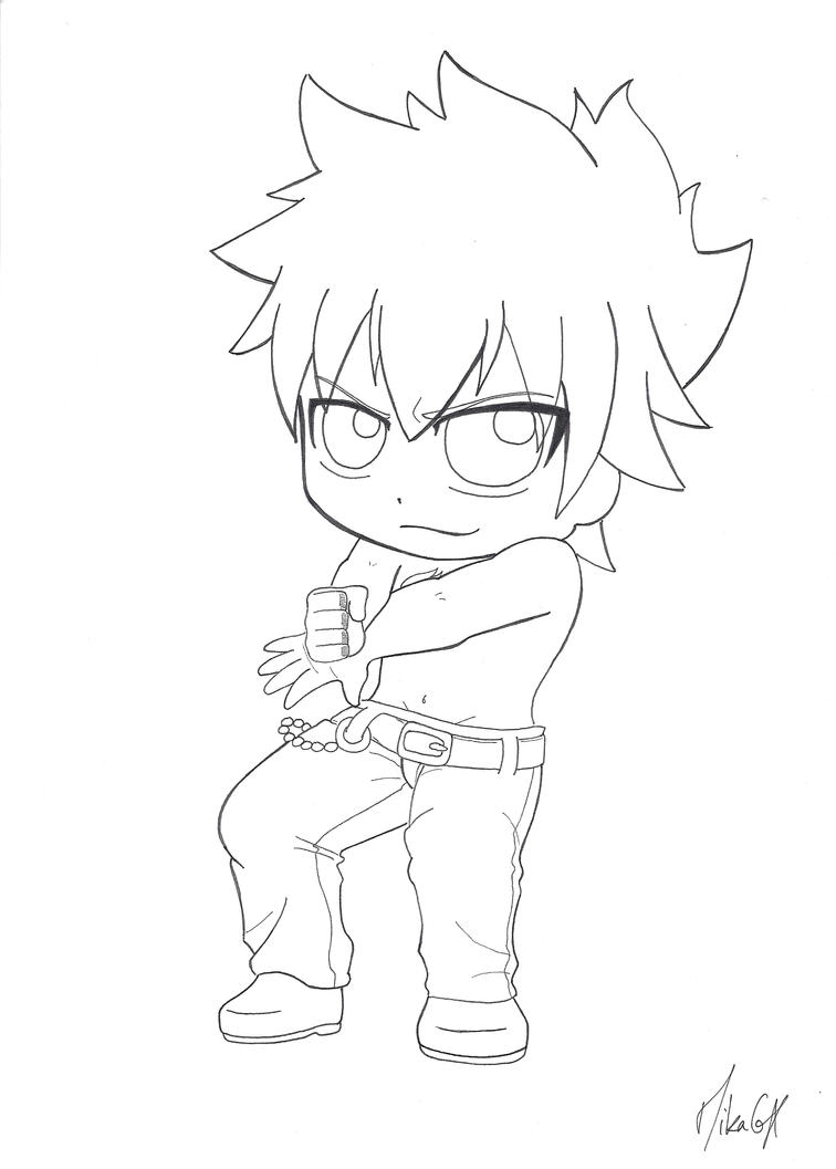 gray coloring pages - chibi grey fullbuster by mikagx on deviantart