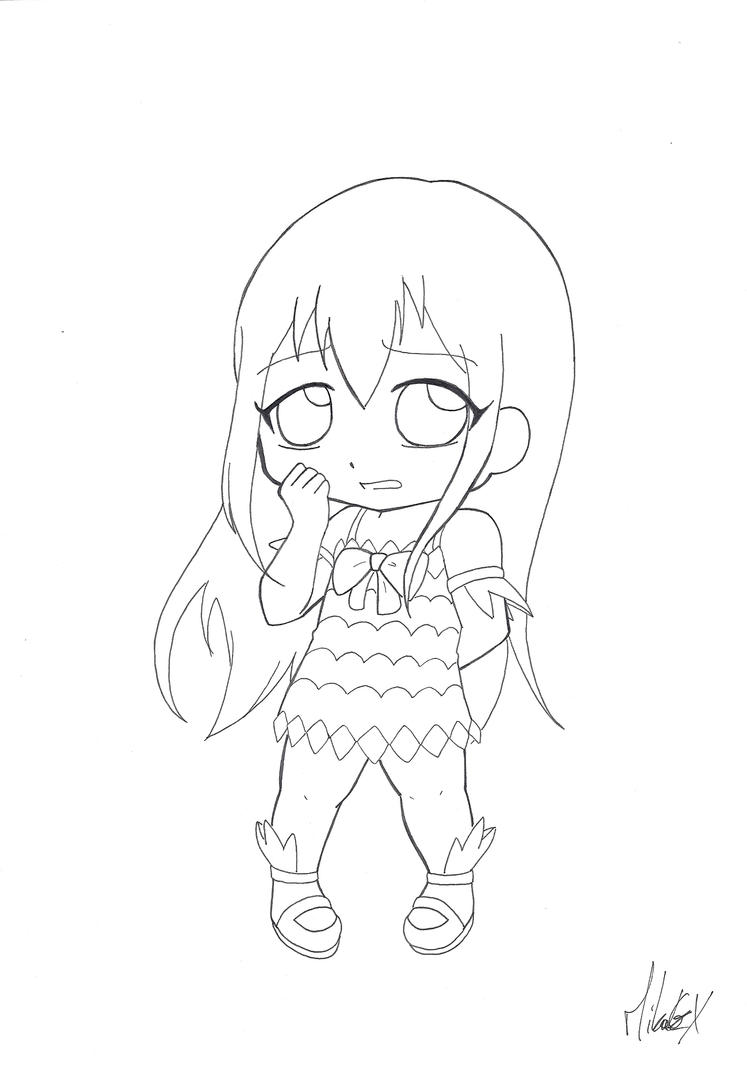chibi fairy tail coloring pages - photo#8