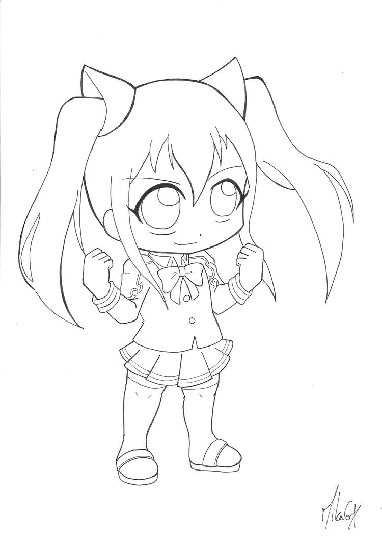 chibi fairy tail coloring pages - photo#20