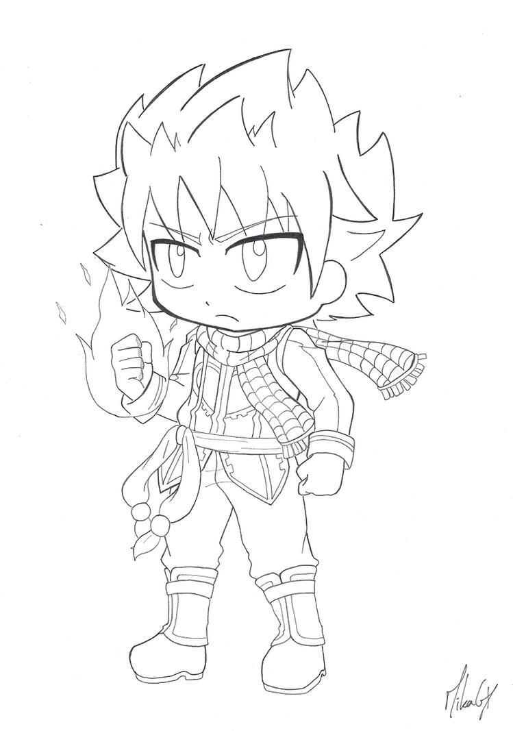 Chibi natsu dragneel v 2 by mikagx on deviantart - Fairy tail a colorier ...