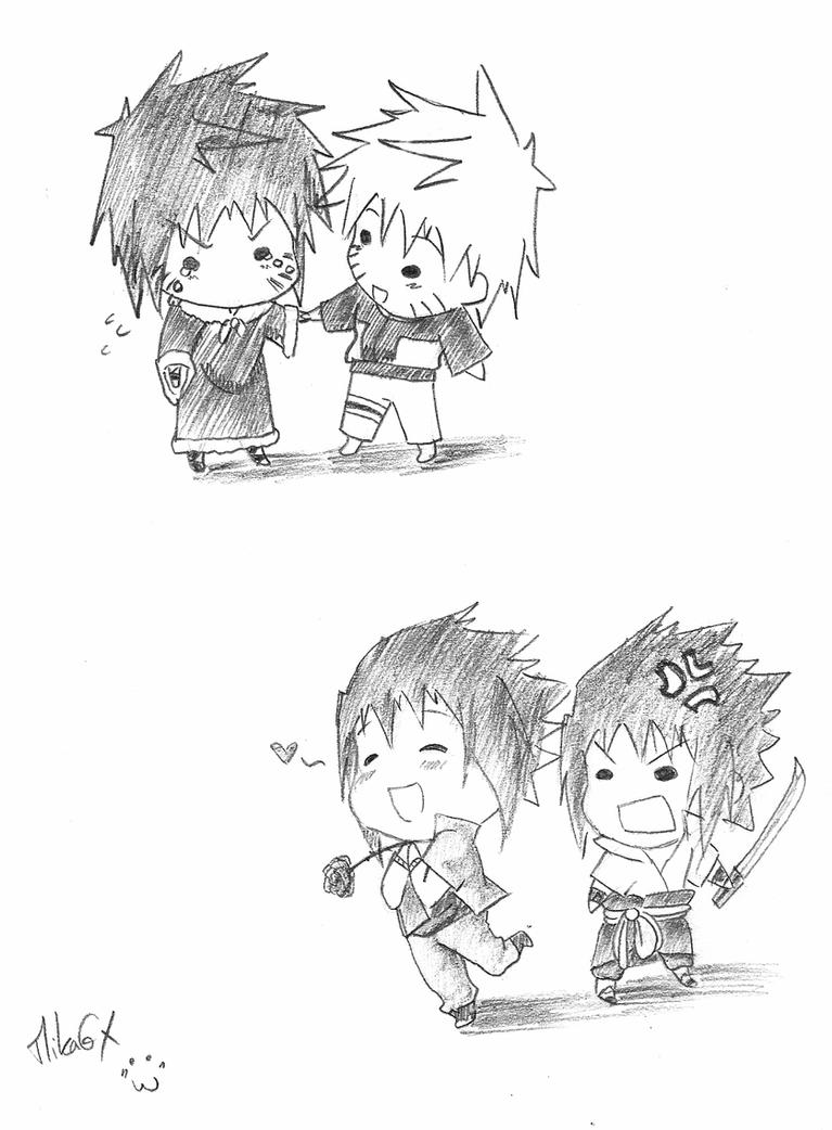 Naruto Moe Chibi Sketch by MikaGx