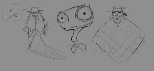 Sketches After Rango by Istebrak