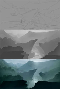 How to Paint a Landscape Painting and Matte basics